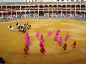 A bullfight in Ronda, Andalusia, Spain, seen while researching for Matadora