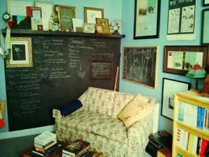 Inside Tanis's writing room