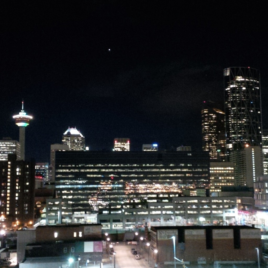 View from the rooftop patio at my Calgary abode.