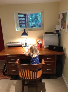 Aga's writing space