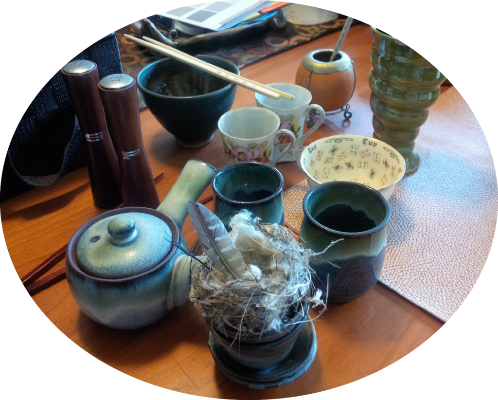 A few items in the 'spark joy' pile