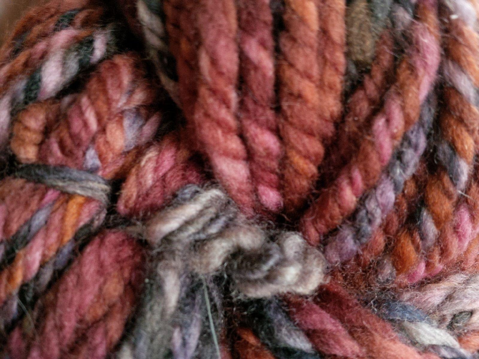 hand-spun, merino wool yarn