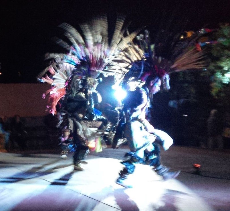 Dancers at the Writers' Festival fiesta